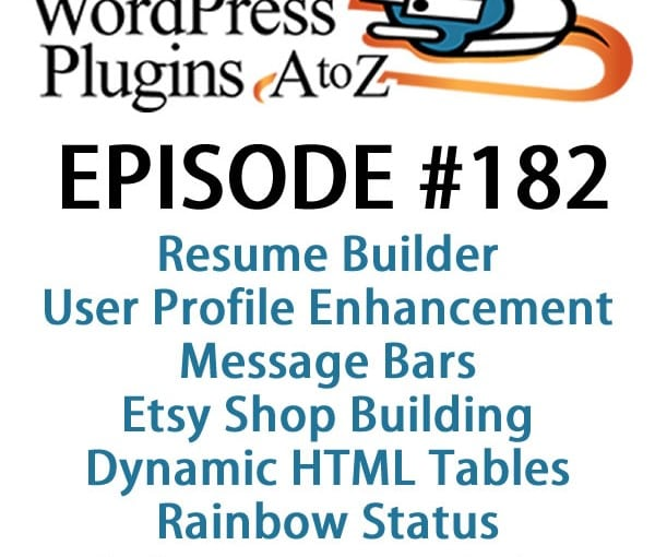 WordPress Plugins A-Z #182