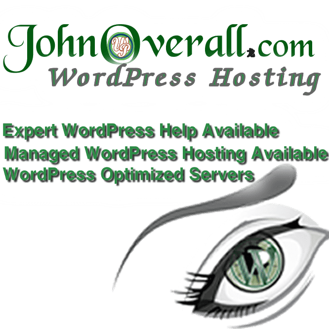 With generous server resources, space and bandwidth allocations so you will never need another host. Register Now for WordPress Hosting at JohnOverall.com only $39.95/mo limited spaces available first come first served.