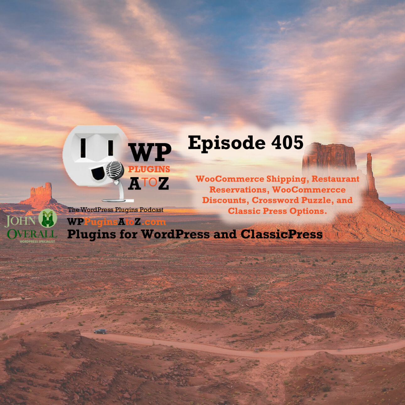 text with the show intro blurb over a mesa background